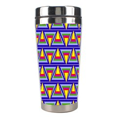 Seamless Prismatic Pythagorean Pattern Stainless Steel Travel Tumblers by Nexatart