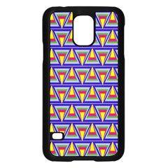 Seamless Prismatic Pythagorean Pattern Samsung Galaxy S5 Case (black)