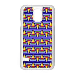 Seamless Prismatic Pythagorean Pattern Samsung Galaxy S5 Case (white) by Nexatart