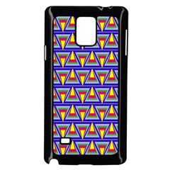 Seamless Prismatic Pythagorean Pattern Samsung Galaxy Note 4 Case (black) by Nexatart