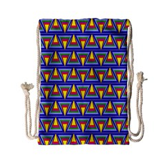 Seamless Prismatic Pythagorean Pattern Drawstring Bag (small) by Nexatart