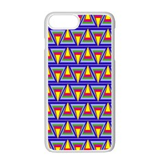 Seamless Prismatic Pythagorean Pattern Apple Iphone 7 Plus White Seamless Case