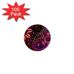 Sunset Floral 1  Mini Magnets (100 Pack)