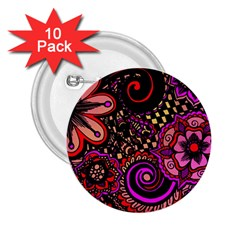 Sunset Floral 2 25  Buttons (10 Pack)