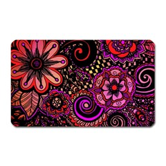 Sunset Floral Magnet (rectangular)