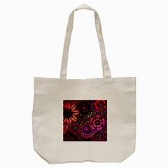 Sunset Floral Tote Bag (cream) by Nexatart