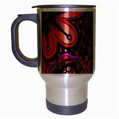 Sunset Floral Travel Mug (silver Gray)