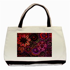 Sunset Floral Basic Tote Bag