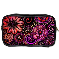 Sunset Floral Toiletries Bags 2 Side
