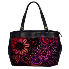 Sunset Floral Office Handbags by Nexatart