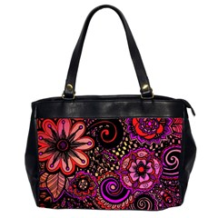 Sunset Floral Office Handbags (2 Sides)