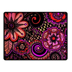 Sunset Floral Fleece Blanket (small)
