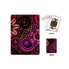 Sunset Floral Playing Cards (mini)  by Nexatart