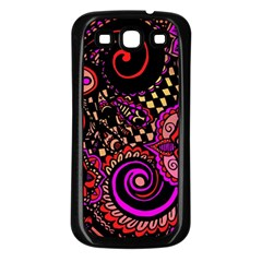 Sunset Floral Samsung Galaxy S3 Back Case (black)