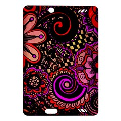 Sunset Floral Amazon Kindle Fire Hd (2013) Hardshell Case by Nexatart