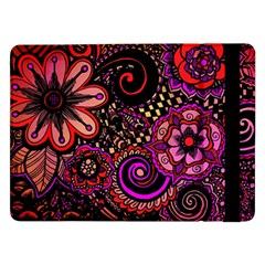 Sunset Floral Samsung Galaxy Tab Pro 12 2  Flip Case by Nexatart