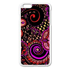 Sunset Floral Apple Iphone 6 Plus/6s Plus Enamel White Case