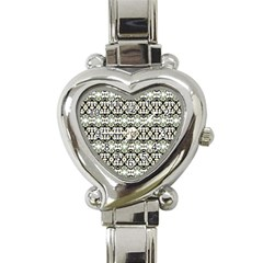 Abstract Camouflage Heart Italian Charm Watch by dflcprints