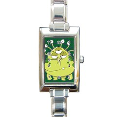 The Most Ugly Alien Ever Rectangle Italian Charm Watch by Catifornia