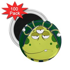 The Most Ugly Alien Ever 2 25  Magnets (100 Pack)  by Catifornia