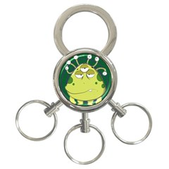 The Most Ugly Alien Ever 3 Ring Key Chains by Catifornia