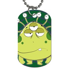 The Most Ugly Alien Ever Dog Tag (two Sides) by Catifornia