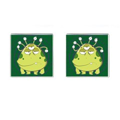 The Most Ugly Alien Ever Cufflinks (square) by Catifornia