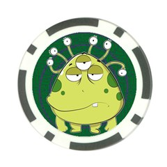 The Most Ugly Alien Ever Poker Chip Card Guard by Catifornia