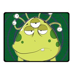 The Most Ugly Alien Ever Double Sided Fleece Blanket (small)  by Catifornia