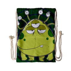 The Most Ugly Alien Ever Drawstring Bag (small) by Catifornia