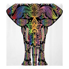 Prismatic Floral Pattern Elephant Shower Curtain 66  X 72  (large)  by Nexatart