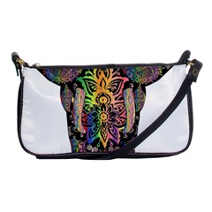 Prismatic Floral Pattern Elephant Shoulder Clutch Bags by Nexatart
