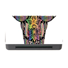 Prismatic Floral Pattern Elephant Memory Card Reader With Cf by Nexatart