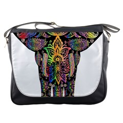 Prismatic Floral Pattern Elephant Messenger Bags