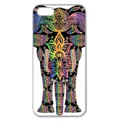 Prismatic Floral Pattern Elephant Apple Seamless Iphone 5 Case (clear)