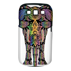 Prismatic Floral Pattern Elephant Samsung Galaxy S Iii Classic Hardshell Case (pc+silicone)