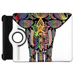 Prismatic Floral Pattern Elephant Kindle Fire Hd 7