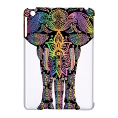 Prismatic Floral Pattern Elephant Apple Ipad Mini Hardshell Case (compatible With Smart Cover) by Nexatart