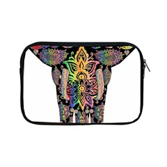 Prismatic Floral Pattern Elephant Apple Ipad Mini Zipper Cases by Nexatart