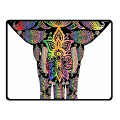Prismatic Floral Pattern Elephant Double Sided Fleece Blanket (small)