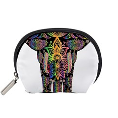 Prismatic Floral Pattern Elephant Accessory Pouches (small)