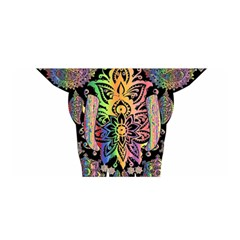 Prismatic Floral Pattern Elephant Satin Wrap