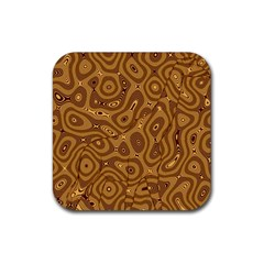 Giraffe Remixed Rubber Square Coaster (4 Pack)