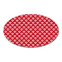 Diamond Pattern Oval Magnet by Nexatart