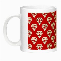 Diamond Pattern Night Luminous Mugs by Nexatart