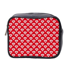 Diamond Pattern Mini Toiletries Bag 2 Side by Nexatart