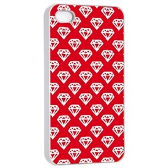 Diamond Pattern Apple Iphone 4/4s Seamless Case (white)