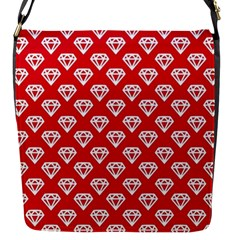 Diamond Pattern Flap Messenger Bag (s)