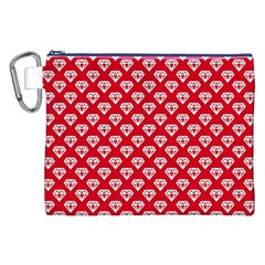 Diamond Pattern Canvas Cosmetic Bag (xxl) by Nexatart