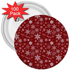 Merry Christmas Pattern 3  Buttons (100 Pack)  by Nexatart